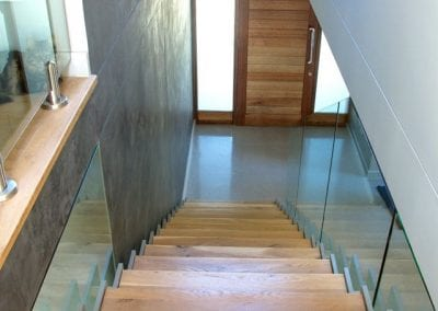 Steel, Glass and Oak Stairs