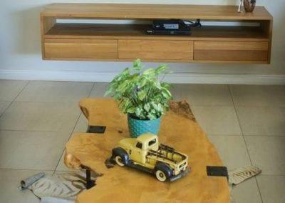 Yellowwood Truck Table with Steel Legs