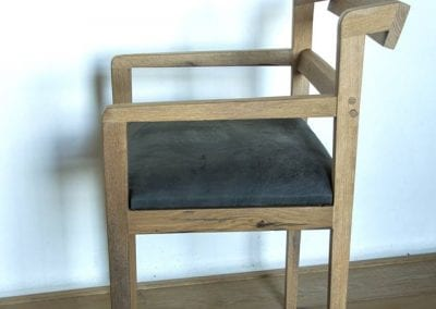 Cigar Barrel Oak Chair