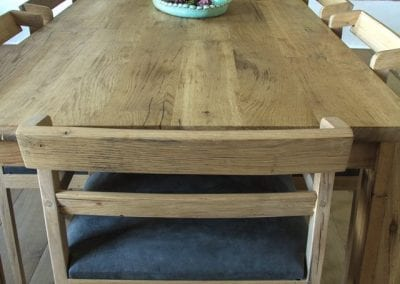 Barrel Oak Table and Chairs