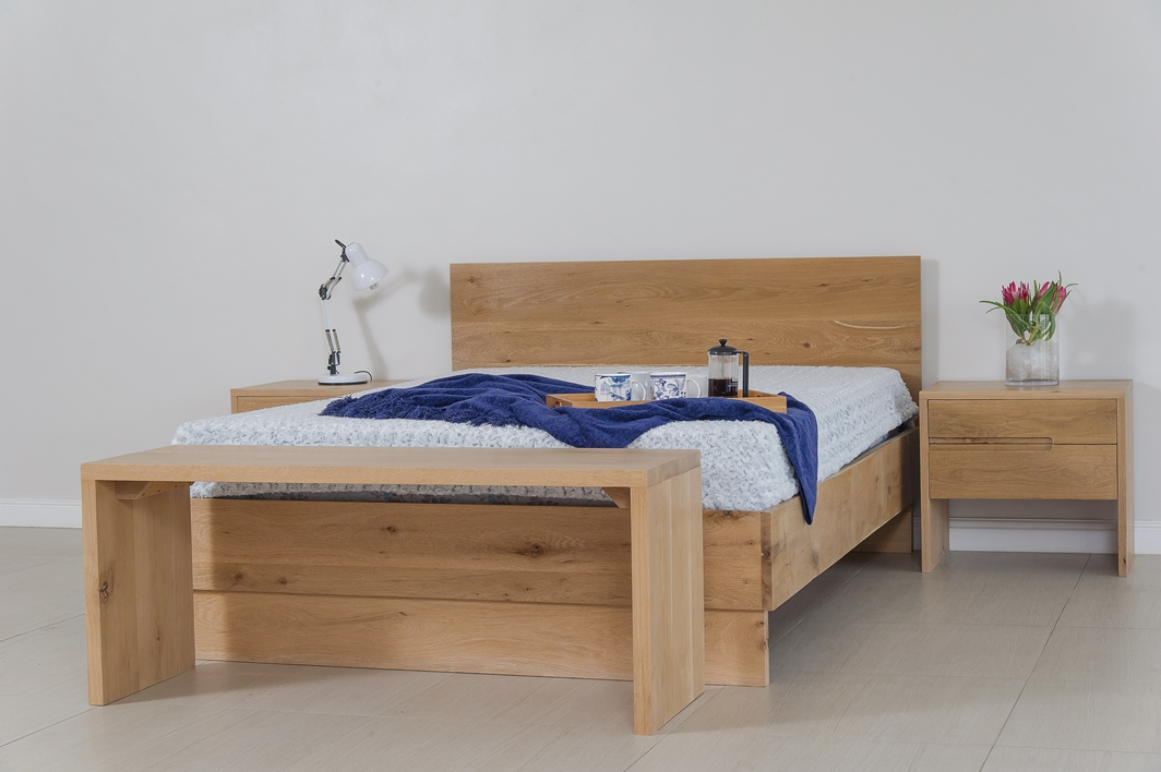 nina oak range bed naka furniture. Black Bedroom Furniture Sets. Home Design Ideas